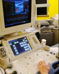 ArterioVision pairs ultrasound equipment like this with NASA's software genius.