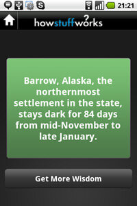 Brush up on trivia with the app's facts and quotes.