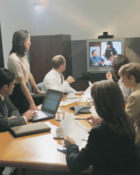 Thanks to videoconferencing, people located in different parts of the country or world are able to meet together (virtually, that is).