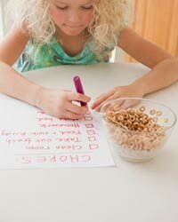 Kids can help out and make their own to-do lists.