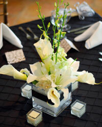 Your flower budget will dictate how simple or elaborate you can go with centerpieces.