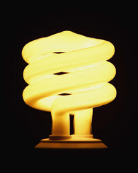 Replacing your lightbulbs with CFLs will help save energy.