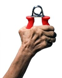 With a simple hand strengthener, you can exercise your grip while you sit in traffic.
