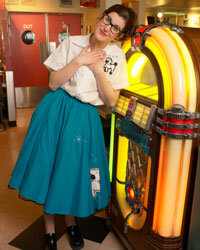 A '50s-style costume, including a poodle skirt -- and a jukebox, which we couldn't properly call a fad of the '50s due to their continuing popularity.
