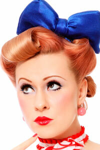 The pinup look of the 1950s is popular once again.