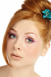 For a modern twist on the '60s cat eye, try it in a color other than black.
