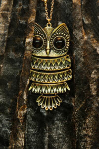 Don't go overboard with your owl pendant -- it's charming enough on its own.