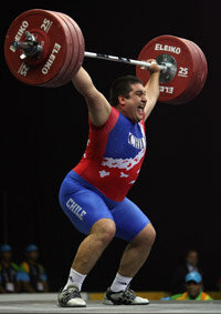 Developing muscle strength takes deliberate training; a sudden burst of muscle use can result in injury. Above, Chile's Cristian Escalante lifts 180 kg (almost 400 pounds) to set a record at the 2007 Pan American Games in Brazil.