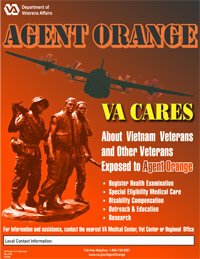 A U.S. Department of Veteran Affairs poster created to raise awareness about VA programs for vets exposed to Agent Orange. See more bioweapon pictures.