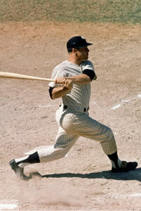 Mickey Mantle played for the New York Yankees from 1951-1968 and lead the Yankees to capturing the 1958 World Series championship against the Milwaukee Braves.