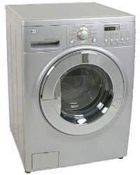 The LG All-in-one Washer and Dryer is one of the space-saving combinations available.