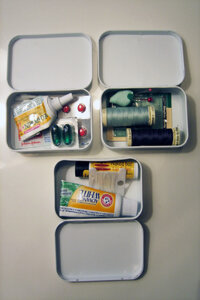 Kate Pruitt came up with three essential Altoids tins survival kits; you can make them for whatever your life needs.