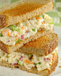 There's nothing more American than packing a chicken salad sandwich for a picnic or al fresco lunch.