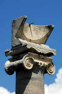 This Roman sundial is very similar to the hemicycles created by the Greeks.