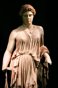 A statue of Hera from Pompeii was part of a traveling exhibit at the Field Museum in Chicago, Ill. The exhibit featured more than 450 artifacts from Pompeii and the nearby communities of Heraculaneum, Oplontis, Boscoreale, and Terzigno.