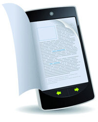 These days, even phones are getting in on the e-reading action. Good news for bookworms everywhere!
