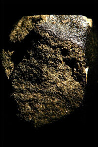 That's not just any rock. That's the Nahkla, a highly rare Martian meteorite, which fell to the Earth and landed in Egypt in 1911.