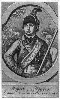 An engraving of Robert Rogers