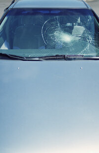Laminated glass is strong enough to keep flying objects from penetrating a car's windshield.