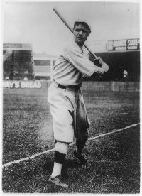 Babe Ruth in fine batting form