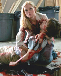 """This scene from """"Law & Order: SVU"""" shows a murder victim being cradled, which would almost never happen in reality."""