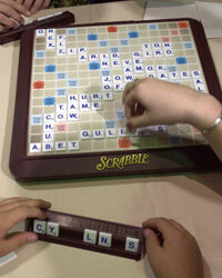 When switching from Words With Friends to Scrabble, keep in mind that their approved word lists differ.