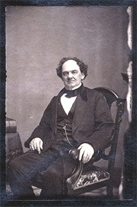 Phineas Taylor Barnum as photographed by Mathew Brady, c.1860