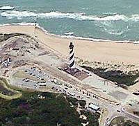 In 1999, the Cape Hatteras Lighthouse was carefully and slowly moved about one-half mile (.8 km) inland.