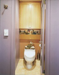 The private toilet is a great option for families.
