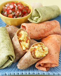 Burritos are a tasty and easy snack choice.