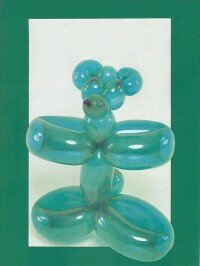 Make a dancing teddy bear balloon.