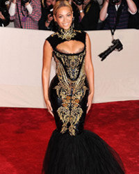 Beyonce Knowles at the 2011 Costume Institute Gala in New York City.