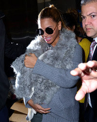 Beyonce and Blue Ivy head out on the town in New York in March 2012.