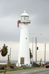 The Biloxi lighthouse is the only lighthouse in the world that is currently located in the median strip of a busy highway. See more lighthouse pictures.