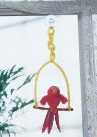 Make a sitting pretty parrot.