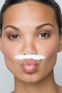 Bleaching can be a quick and painless way to hide facial hair.