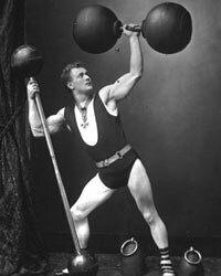 Eugen Sandow in his strongman days