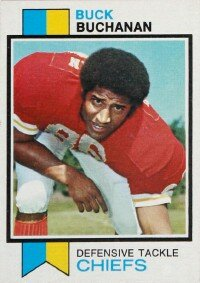 Buck Buchanan was named to either the AFC/NFC Pro Bowl consecutive times. See more pictures of football players.