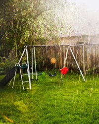 Rain can hydrate your thirsty lawn, but if you have a grade problem, it can also lead to water woes.
