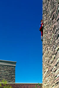 Just like in rock climbing, most climbers, well, climb buildings just to climb.