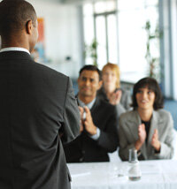 Asimple icebreaker: Have people take turns introducing themselves.