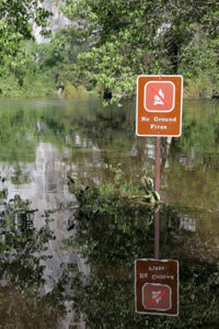 OK, this is pretty funny, but in general, flash floods are no joke.