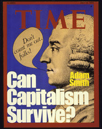 A 1975 Time Magazine cover pondered the future of capitalism with a little commentary from the political system's foremost thinker, Adam Smith.
