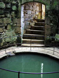 Wells, like this one at Bodiam castle, were essential to the survival of a castle.