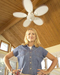 Once you finish installing your ceiling fan, you can cool yourself below it.