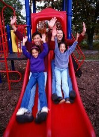 Playground accidents are a leading cause of injury to elementary school kids.