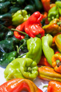 Chili peppers come in a variety of sizes, shapes and colors. See more vegetable pictures.