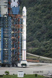 5-4-3-2-1. And there went, Chang'e-1, the lunar probe and first step in China's three-stage moon mission.
