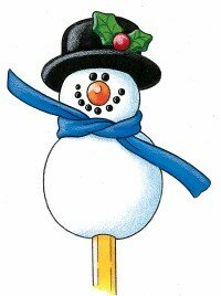 Your snow buddy pencil topper is ready to roll!