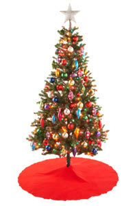 Some artificial Christmas trees are made to look as authentic as possible.